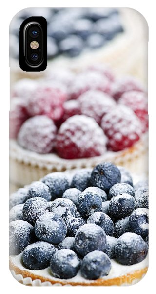 Icing iPhone Case - Fresh Berry Tarts by Elena Elisseeva