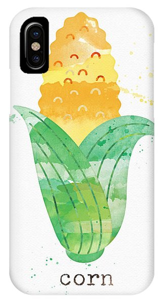 Summer iPhone X Case - Fresh Corn by Linda Woods