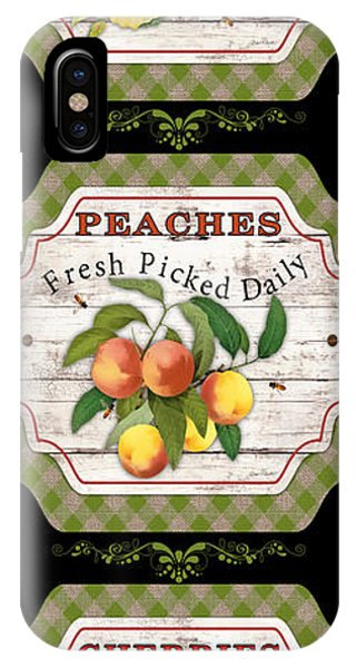 Orchard iPhone Case - Fresh Fruit Trio--jp3757 by Jean Plout