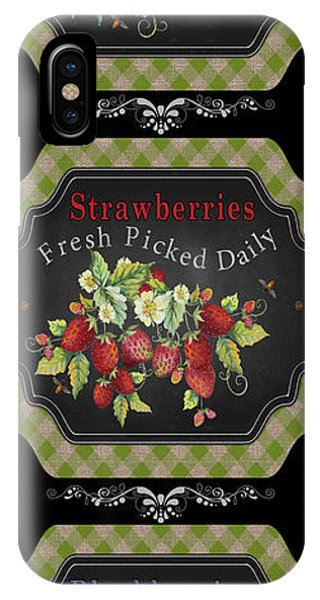Orchard iPhone Case - Fresh Fruit Trio--jp3758 by Jean Plout