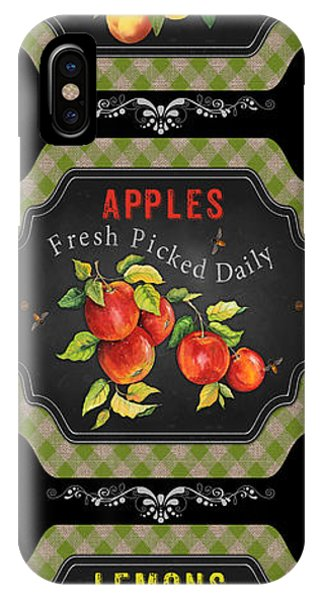 Orchard iPhone Case - Fresh Fruit Trio--jp3759 by Jean Plout