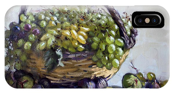 Grape iPhone X Case - Fresh Grapes And Figs From Lida's Garden by Ylli Haruni