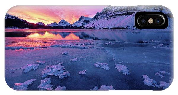 Fresh Ice On Bow Lake IPhone Case
