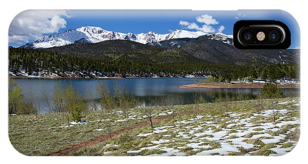 Fourteener iPhone Case - Fresh Snow Along The Banks Of Crystal Creek Reservoir With Pikes by Bridget Calip