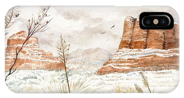 Courthouse iPhone Case - Fresh Snow On Bell Rock by Marilyn Smith