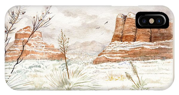 Fresh Snow On Bell Rock IPhone Case