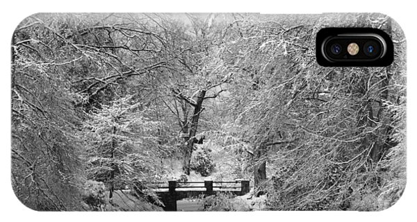 Fresh Snowfall At Mount Auburn Cemetery IPhone Case