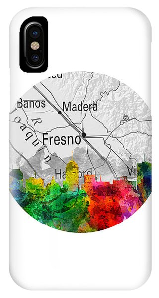 Fresno Silhouette iPhone Case - Fresno California 12rd by Aged Pixel