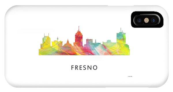 Fresno Silhouette iPhone Case - Fresno California Skyline by Marlene Watson
