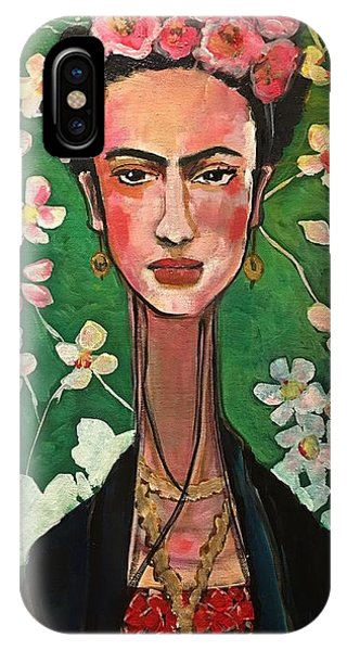 IPhone Case featuring the painting Frida You Are My Vogue by Laurie Maves ART