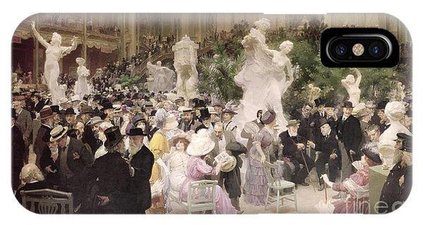 French Artist iPhone Case - Friday At The Salon by Jules Alexandre Grun