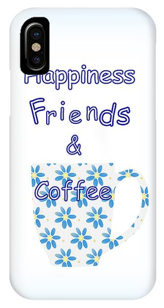 Friends And Coffee  - Kitchen Typography IPhone Case
