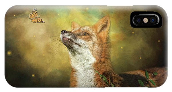 Friends On A Firefly Evening IPhone Case