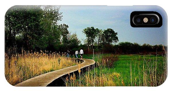 Friends Walking The Wetlands Trail IPhone Case