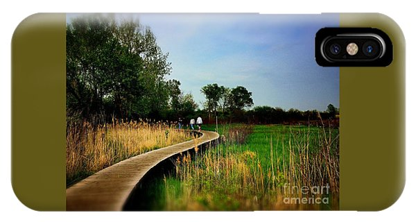 Friends Walking The Wetlands Trail IPhone Case