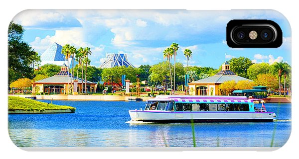 Friendship Boat On The Lagoon Epcot Walt Disney World IPhone Case