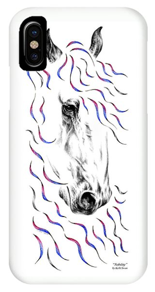 Friesian Horse Nobility IPhone Case