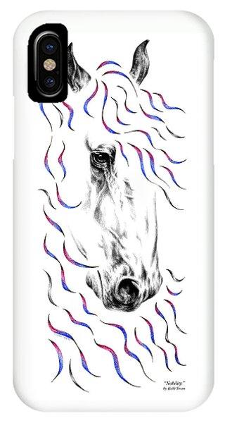 Friesian Horse Nobility IPhone Case