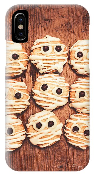 Icing iPhone Case - Frightened Mummy Baked Biscuits by Jorgo Photography - Wall Art Gallery