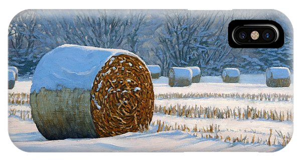 Frigid Morning Bales IPhone Case