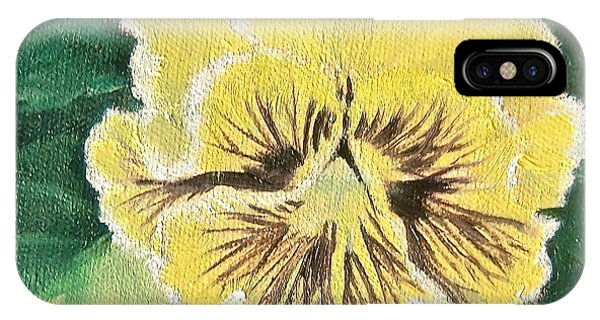Frilly Yellow Pansy IPhone Case