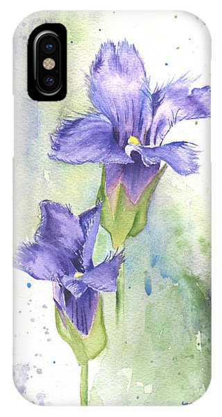 Fringed Gentian IPhone Case