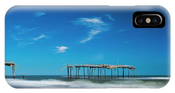 Frisco Fishing Pier In North Carolina Panorama IPhone Case