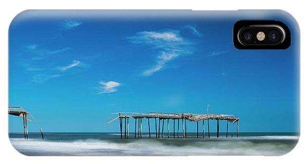 Frisco Fishing Pier In North Carolina Panorama IPhone Case