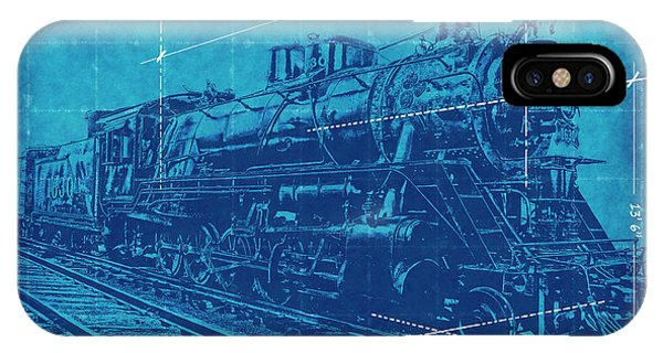 Train blueprint iphone cases fine art america train blueprint iphone case frisco locomotive 1630 blueprint 2 by daniel hagerman malvernweather Image collections