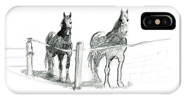 Friesian Horses IPhone Case