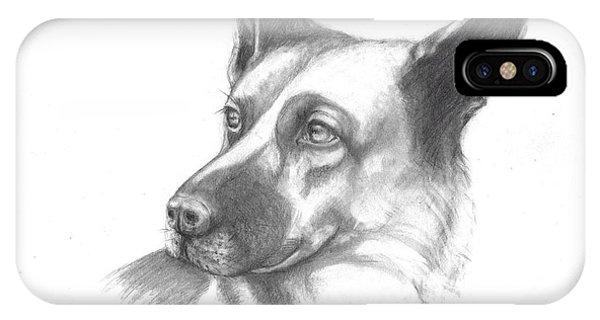 Fritz The German Shepherd IPhone Case
