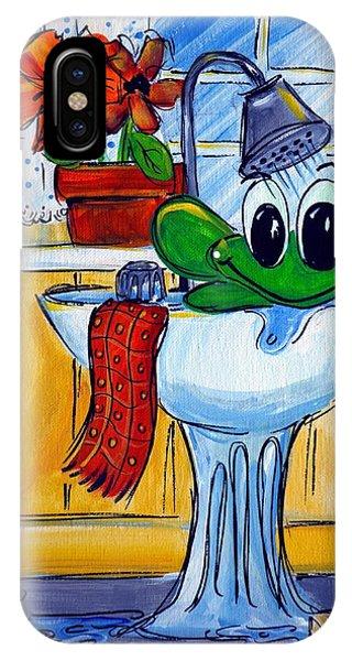 Frog Bath IPhone Case