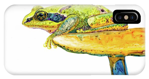 Frog Sitting On A Toad-stool IPhone Case