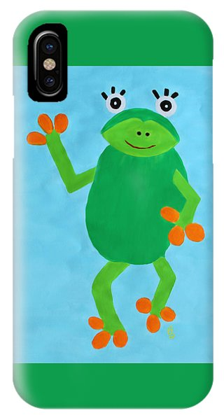 IPhone Case featuring the painting Froggie by Deborah Boyd