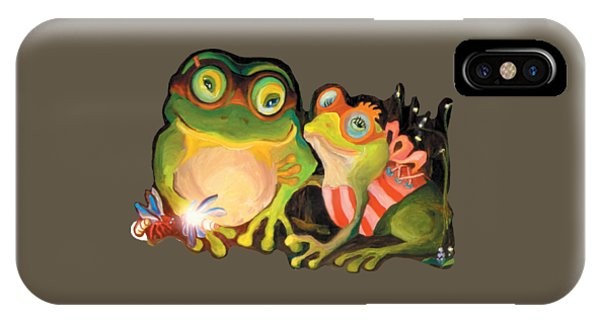 Frogs Transparent Background IPhone Case