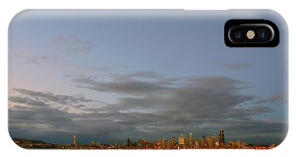 From Alki - Cloudy Night IPhone Case