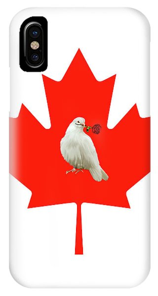 Leave iPhone Case - From Canada With Love by Munir Alawi