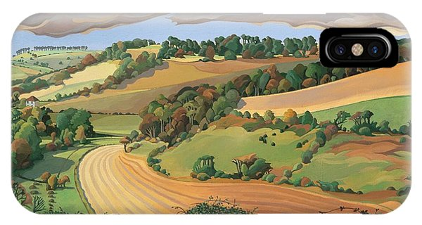 Plowing iPhone Case - From Solsbury Hill by Anna Teasdale