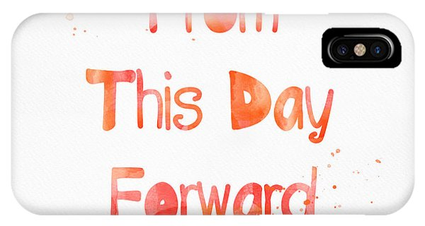 Wedding Gift iPhone Case - From This Day Forward by Linda Woods