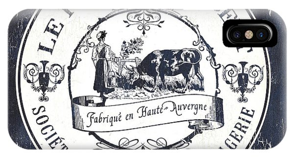 Farm iPhone Case - Fromage Label 1 by Debbie DeWitt