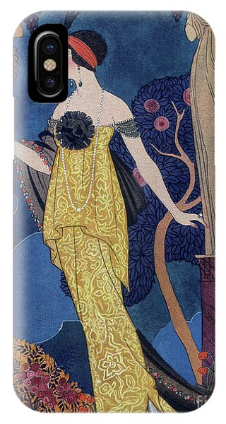 Plumes iPhone Case - Front Cover Of Les Modes by Georges Barbier