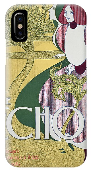 Magazine Cover iPhone Case - Front Cover Of The Echo by William Bradley