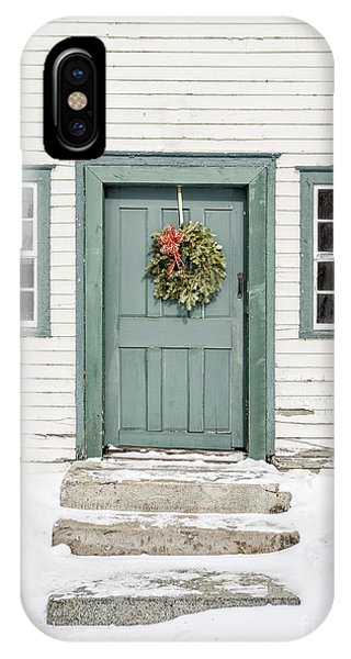 New England Barn iPhone Case - Front Door Of An Old Colonial Home by Edward Fielding