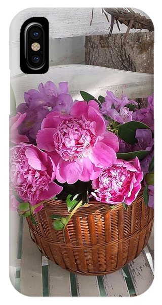 Front Porch Peonies IPhone Case
