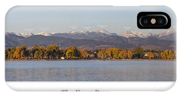 Front Range With Peak Labels IPhone Case