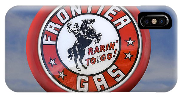 Gas Station iPhone Case - Frontier Gas Globe by Mike McGlothlen