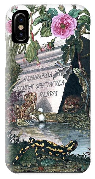 Frontis Of Historia Naturalis Ranarum Nostratium IPhone Case