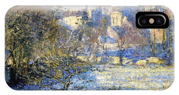 Wintry iPhone Case - Frost by Claude Monet