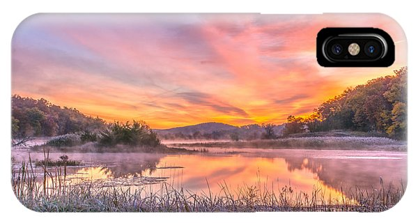 Frosted Dawn At The Wetlands IPhone Case