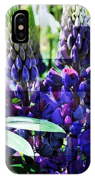 Frosted Purple Lupines IPhone Case